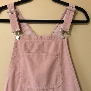 Pink corduroy overalls from TOPSHOP